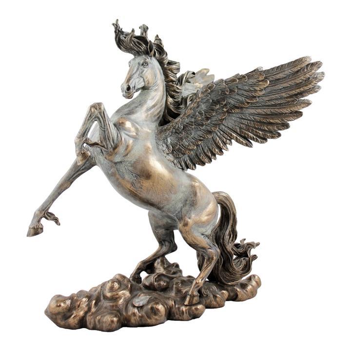Veronese Cold Cast Bronze Coated Greek Mythology Figurine, Pegasus