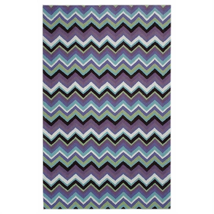 Anywhere Chevron Hand Tufted Indoor/Outdoor Rug, 180x280cm, Plum