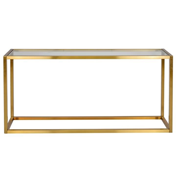 Alistair Glass  Stainless Steel Console Table, 160cm