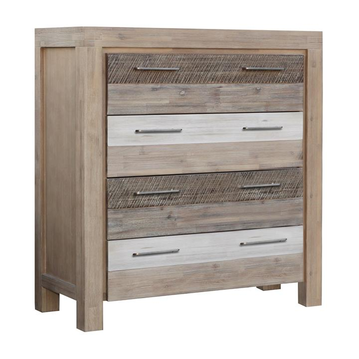 Albergo Acacia Timber 4 Drawer Tallboy