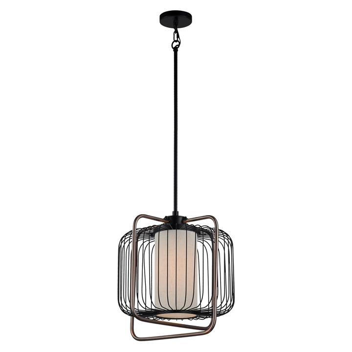 Maple Steel Cage Pendent Light, Large