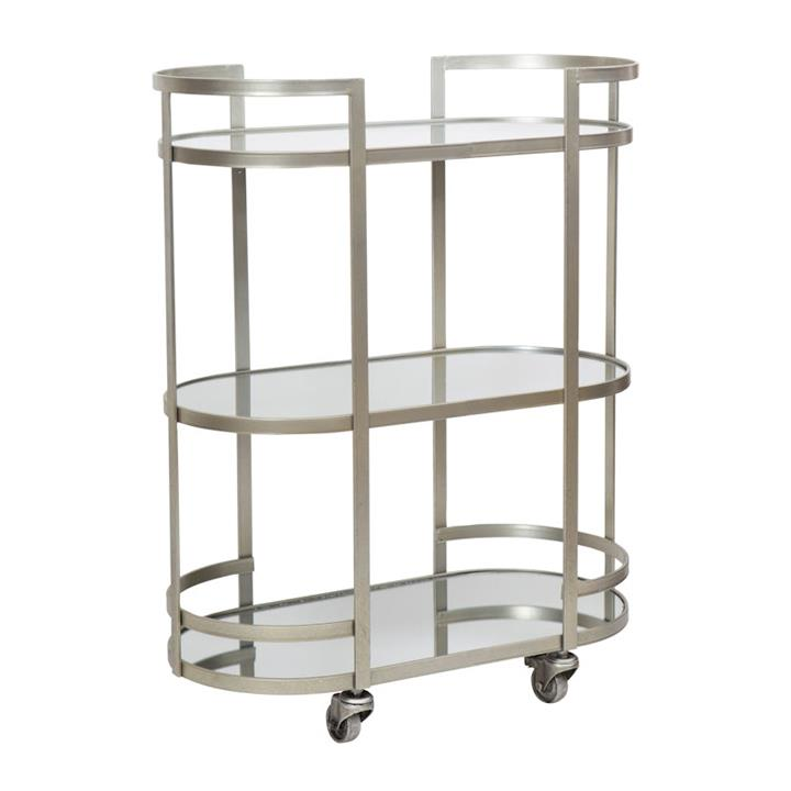 Arden Iron  Mirror Drinks Trolley