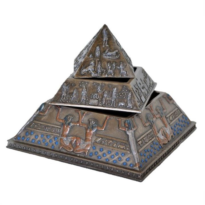 Veronese Cold Cast Bronze Coated 3 Layer Pyramid Trinket Box