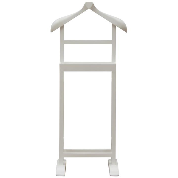 Arlet Hand Crafted Mango Wood Valet Stand, White