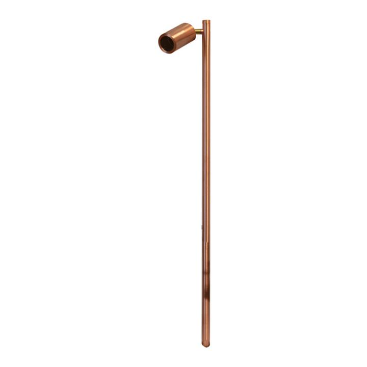 Roslin IP65 Exterior Single Adjustable Spike Garden Light, MR16, 100cm, Copper