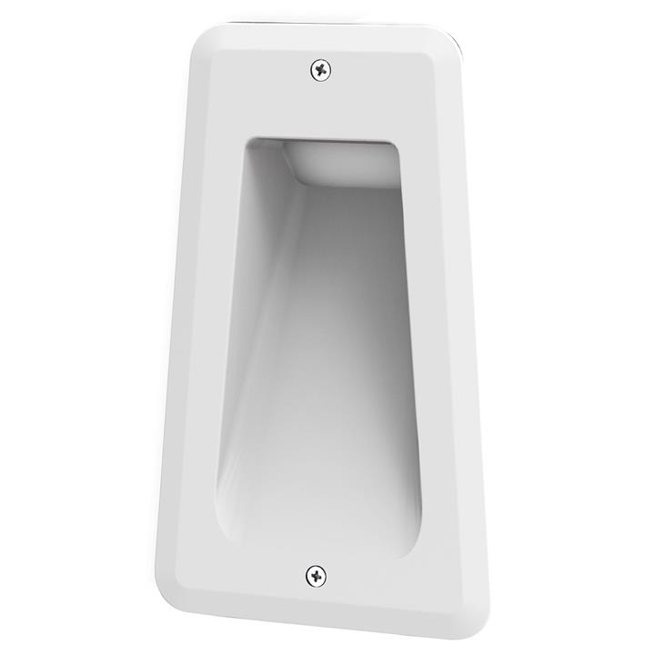 Acre IP54 Exterior LED Recessed Wall / Step Light, White
