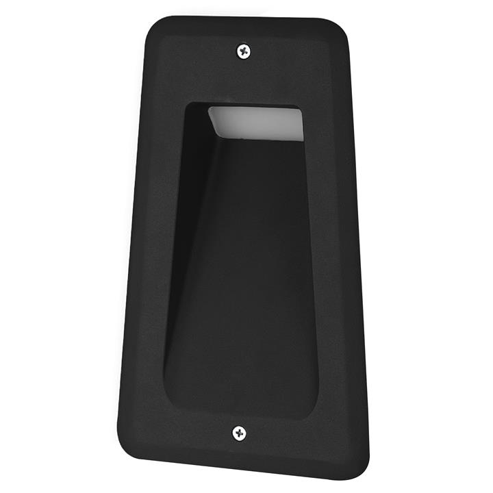Acre IP54 Exterior LED Recessed Wall / Step Light, Black