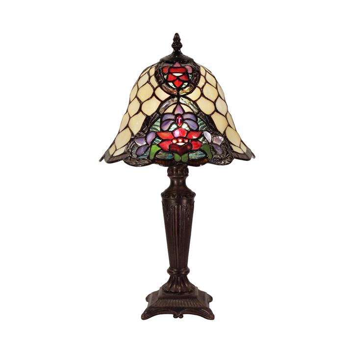 Alicia Tiffany Style Stained Glass Table Lamp, Small