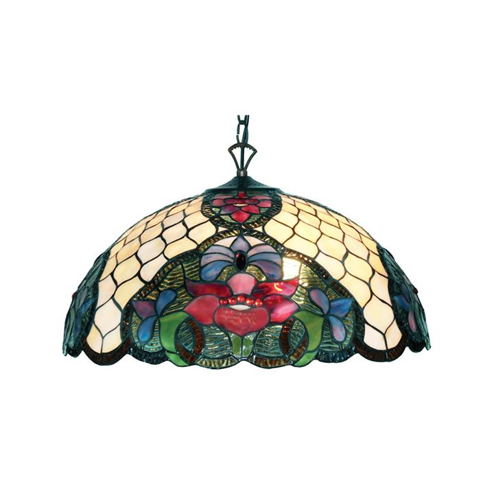 Alicia Tiffany Style Stained Glass Hanging Lamp