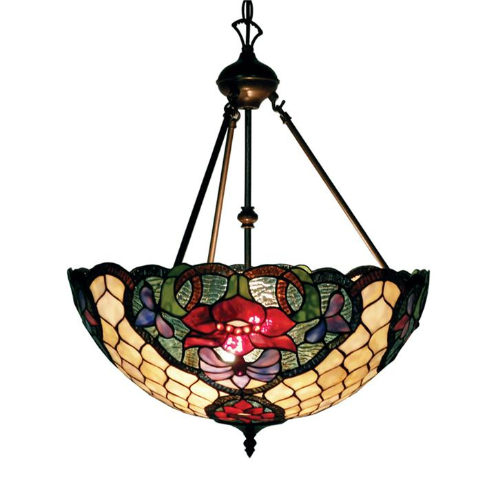 Alicia Tiffany Style Stained Glass Pendant Light