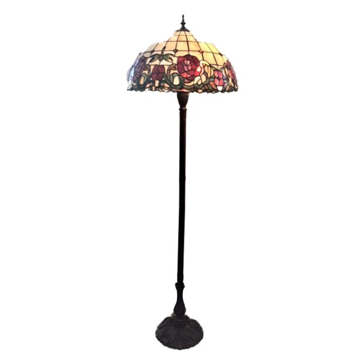 Armadeus Tiffany Style Stained Glass Floor Lamp