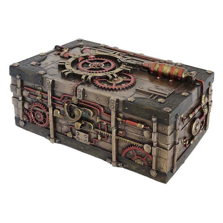 Veronese Cold Cast Bronze Coated Steampunk Treasure Box