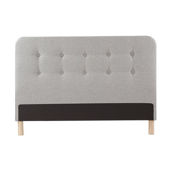 Brayden Cambric Fabric Bed Headboard, Double, Grey