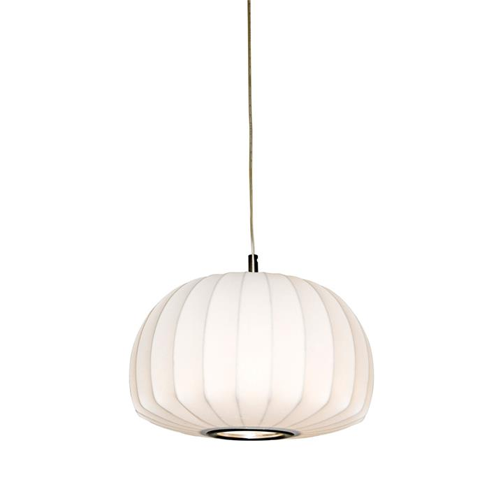 Coote Fabric Pendant Light, Small