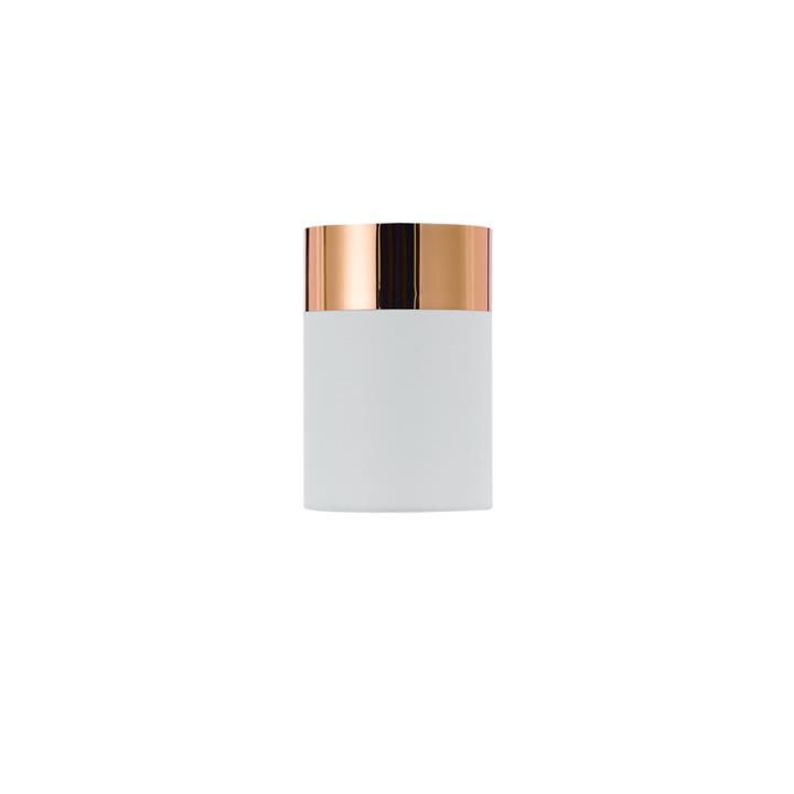 Akira Batten Fix Ceiling Light, White / Copper