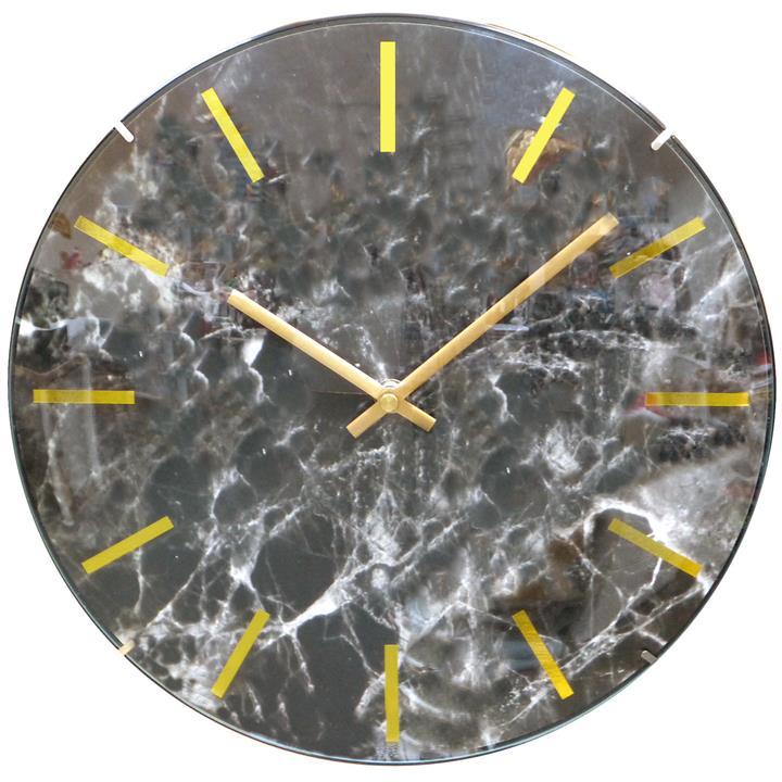 Leni Zabi Round Wall Clock, 30cm, Black