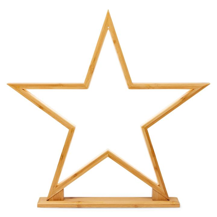 Bilto Bamboo LED Table Lamp, Large Star, Natural