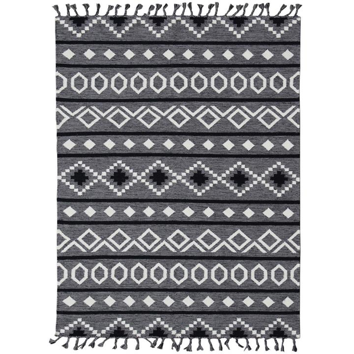 Artifact Handwoven Wool Rug , 160x230cm, Grey