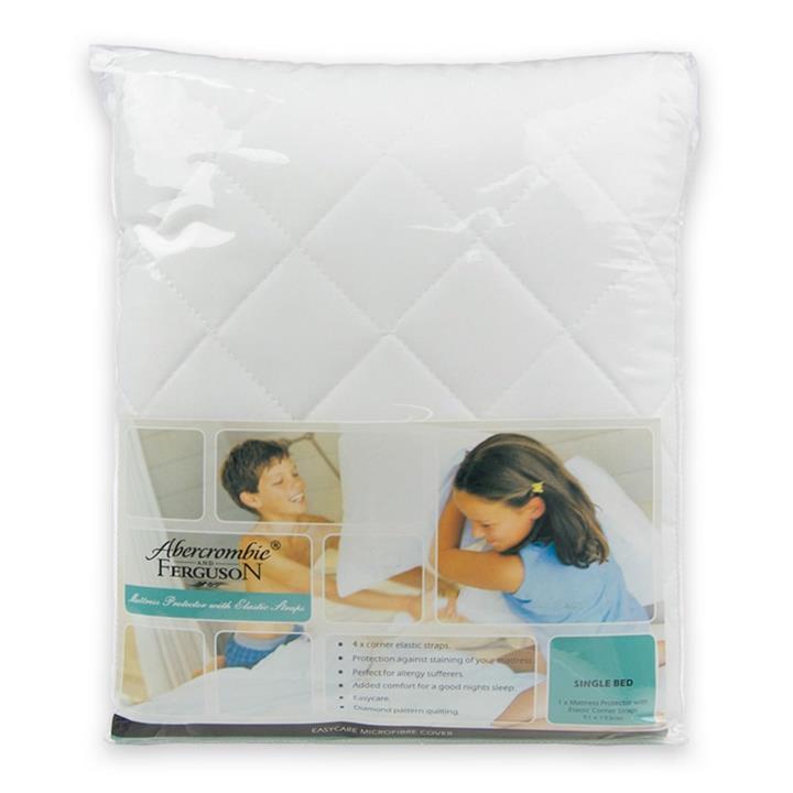 Image of Abercrombie & Ferguson Abercrombie & Ferguson Microfibre Mattress Protector, Double