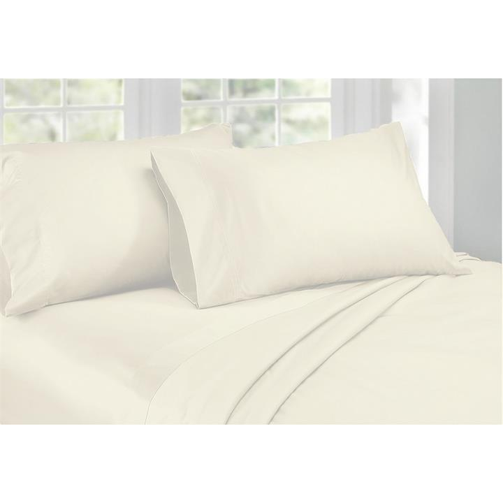Ardor 1000TC Cotton Rich Sheet Set, King, Ivory