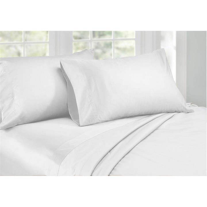 Ardor 1000TC Cotton Rich Sheet Set, Queen, White