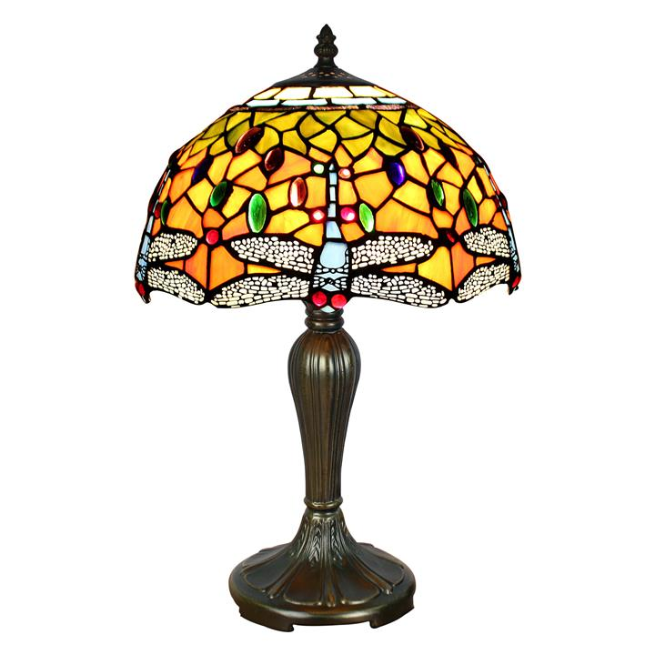 Claudia Tiffany Stained Glass Table Lamp, Small