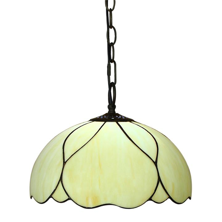 Berit Tiffany Stained Glass Pendant Light, Large