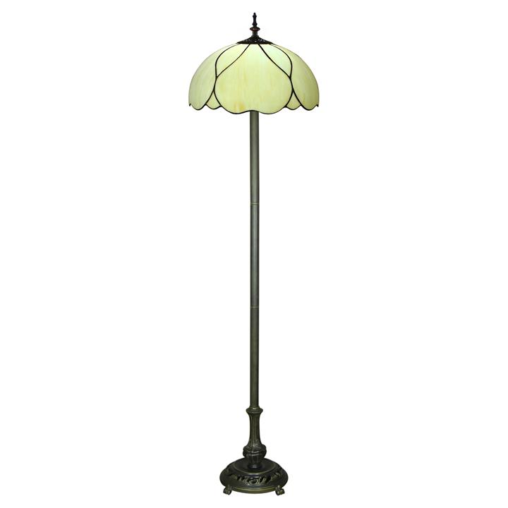 Berit Tiffany Stained Glass Floor Lamp, Large