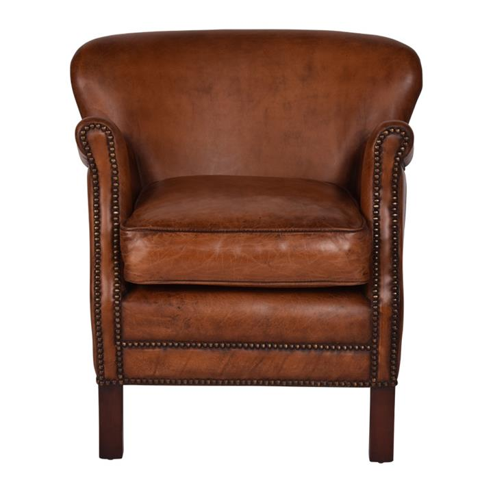 Image of Affinity Furniture Brooks Aged Leather Armchair