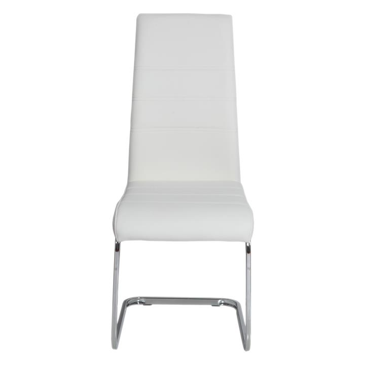 Chara Faux Leather Dining Chair, White