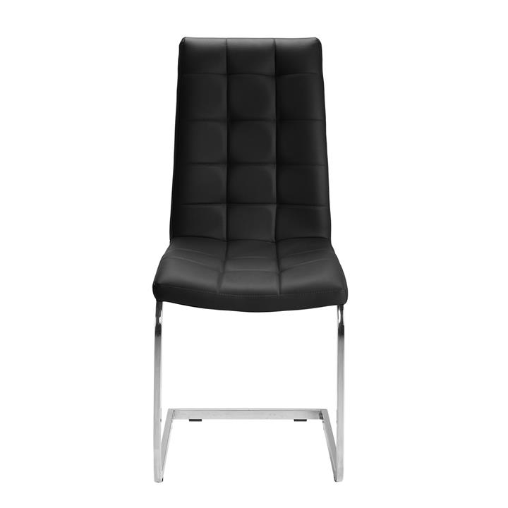 Cresswell Faux Leather Dining Chair, Black