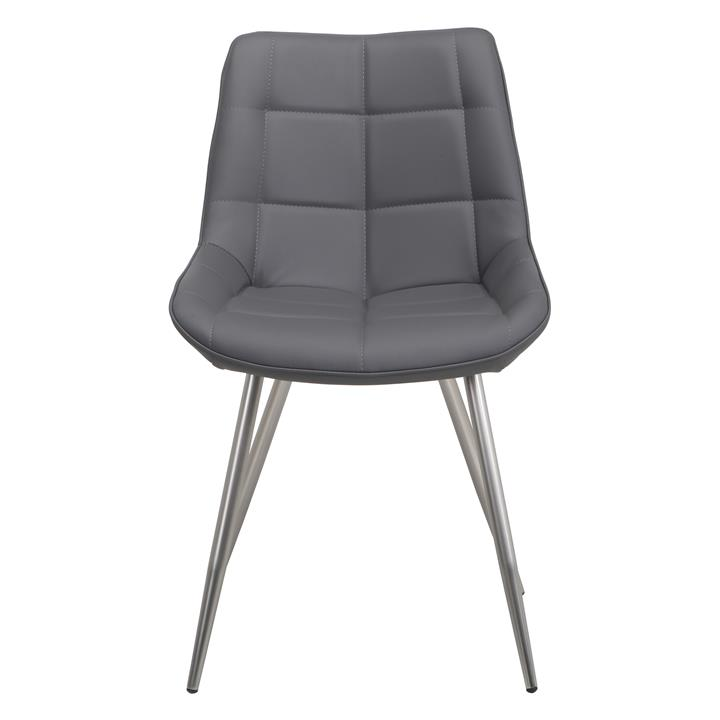 Trix Faux Leather Dining Chair, Grey