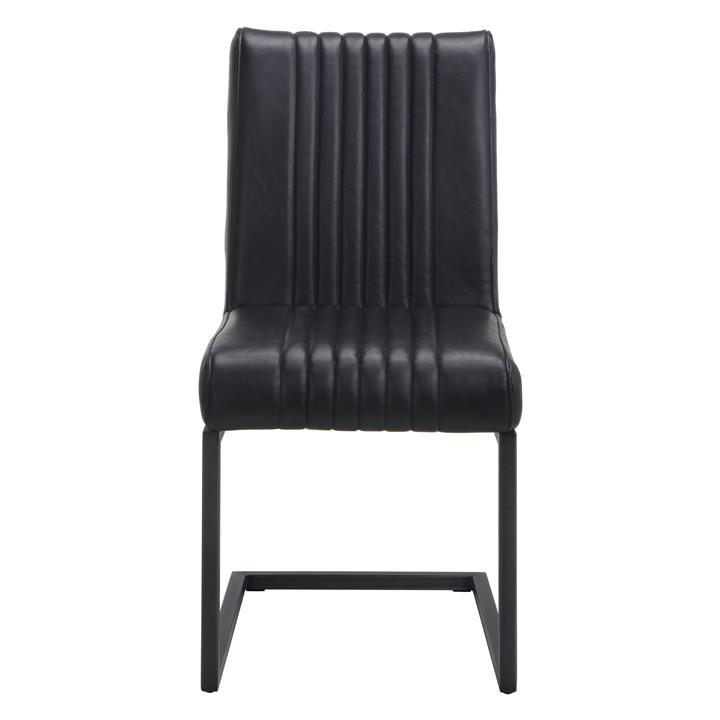 Bram Faux Leather Dining Chair, Black