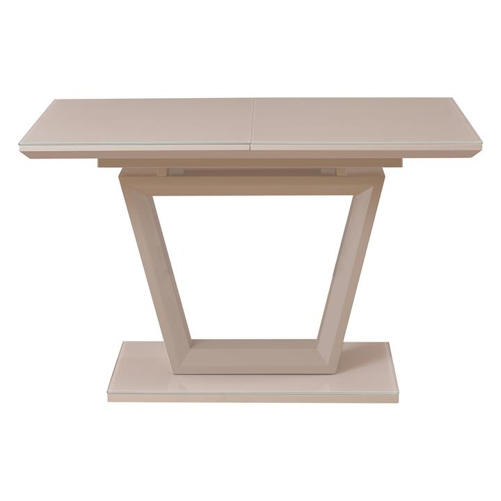 Catrina High Gloss Extension Dining Table, 120-160cm, Cappuccino