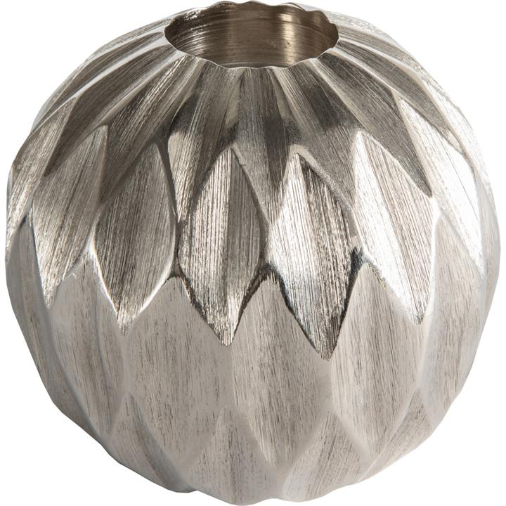 Kingsley Diamond Ball Tealight Holder, Large, Silver