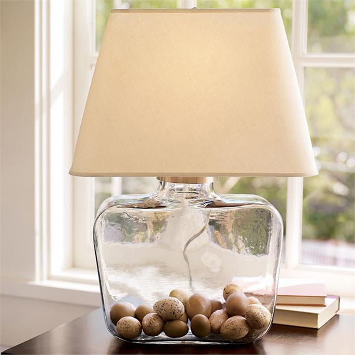 Atrium Fillable Glass Table Lamp
