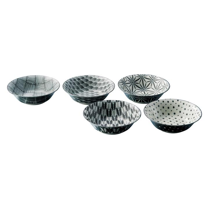 Komon 5 Piece Porcelain Cereal Bowl Set
