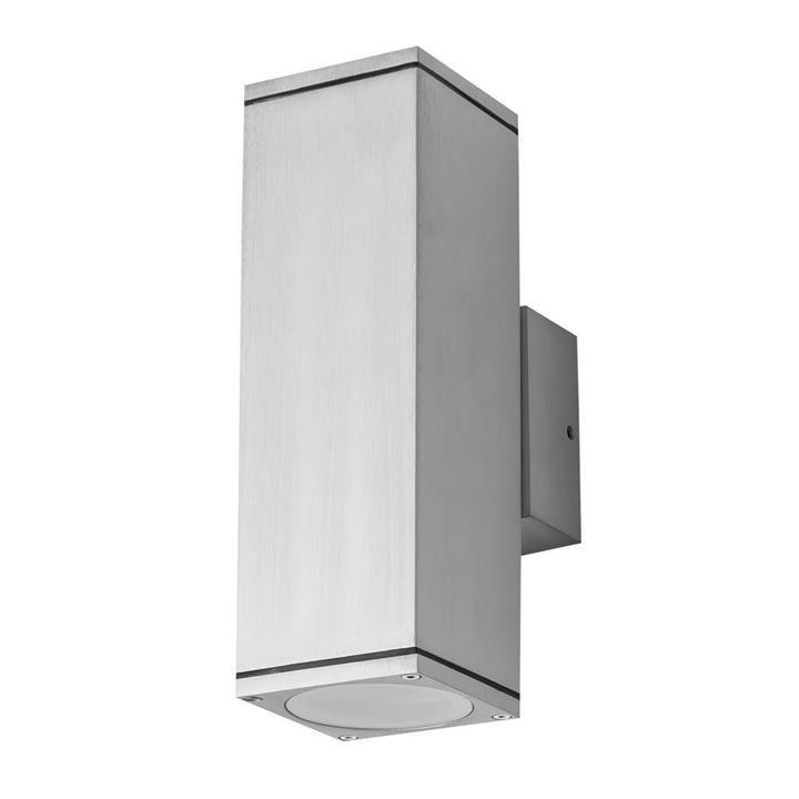 Alpha IP54 Exterior Up / Down Wall Light, Anodised Aluminium
