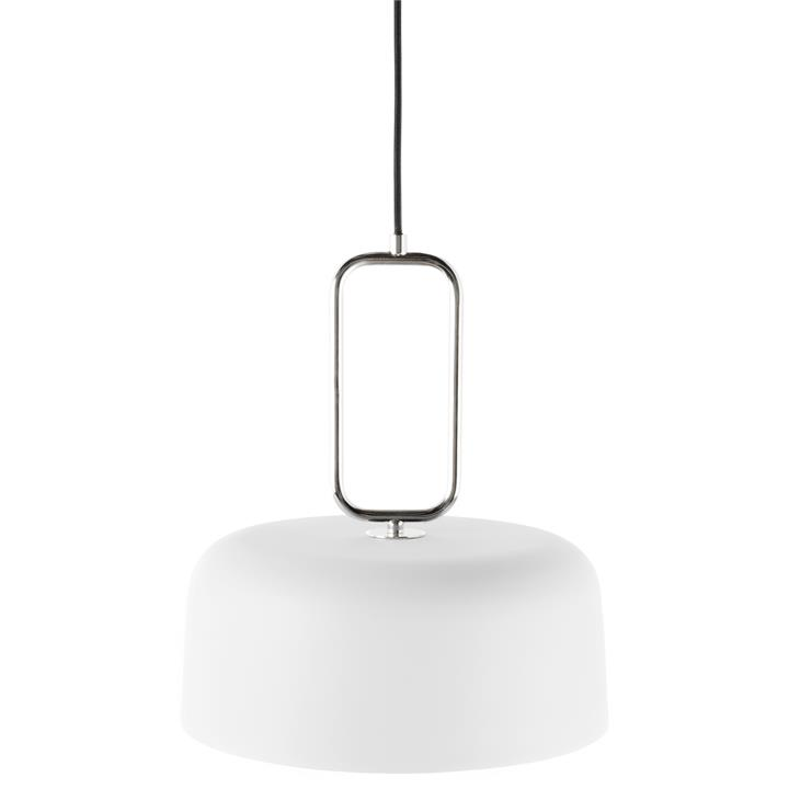 Kinetic Metal Pendant Light, White / Nickel