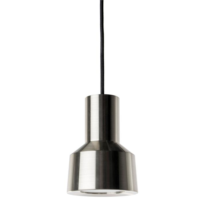 Neuron LED Metal Pendant Light, Nickel