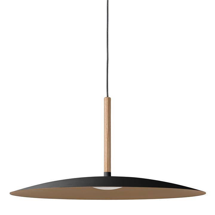 Solar LED Metal Pendant Light, Large, Black