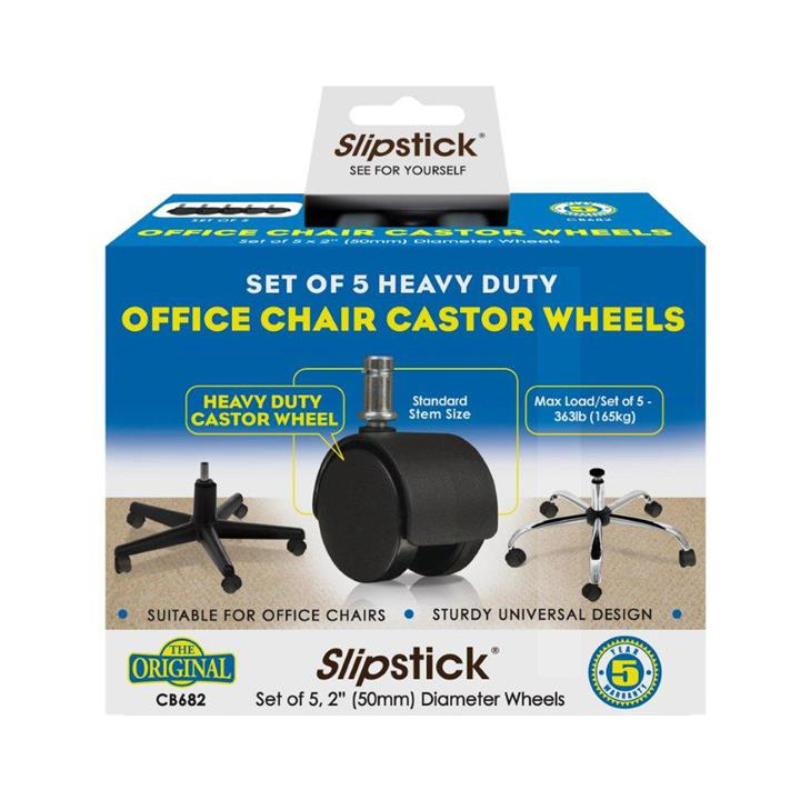 Slipstick Replacement Office Chair Wheels, 5cm, Set of 5