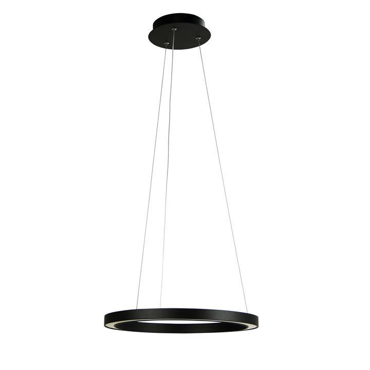 Nimbus LED Halo Ring Pendant Light, 40cm, Black