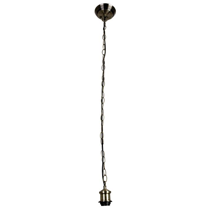 Albany Pendant Light Chain Suspension, Antique Brass