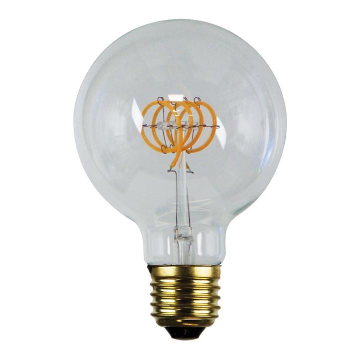 Allume Dimmable LED Spiral Filament Globe, E27, 2200K, G95 Shape