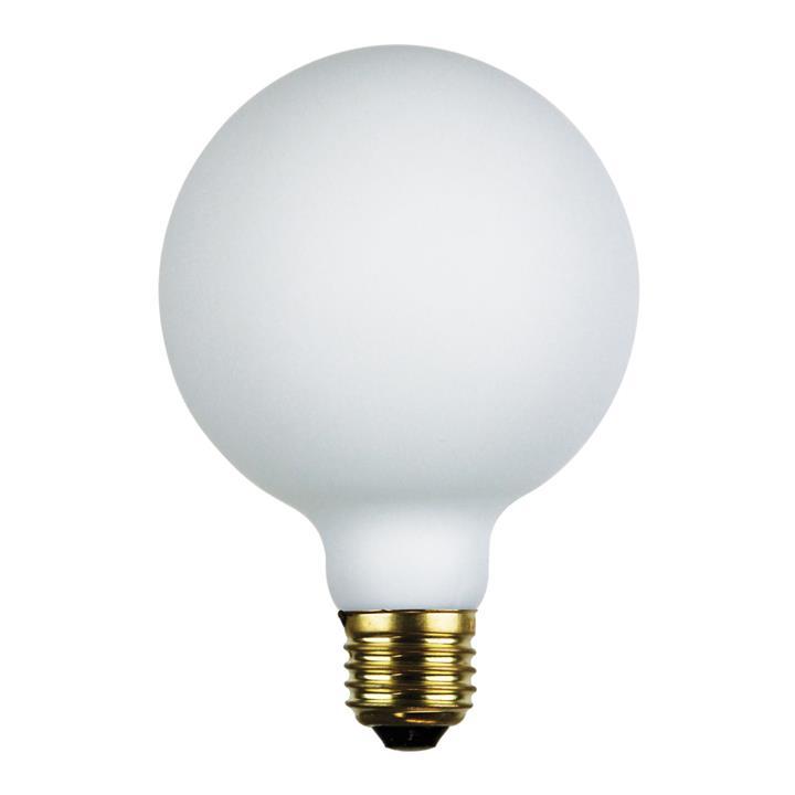 Allume Dimmable LED Opal Matt Globe, E27, 4000K, G125 Shape