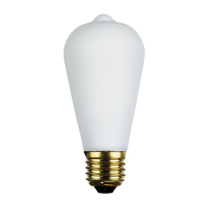 Allume Dimmable LED Opal Matt Globe, E27, 2700K, ST64 Shape