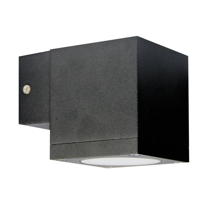 Kube IP65 Commercial Grade Exterior Down Only Wall Light, Black