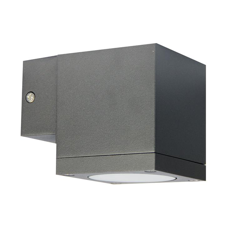 Kube IP65 Commercial Grade Exterior Down Only Wall Light, Graphite