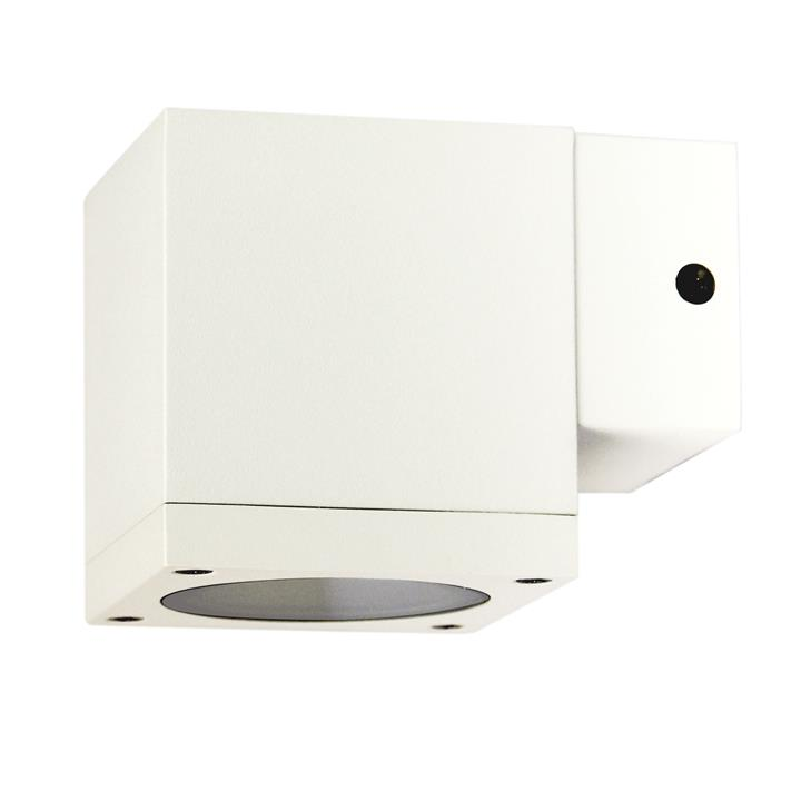 Kube IP65 Commercial Grade Exterior Down Only Wall Light, White